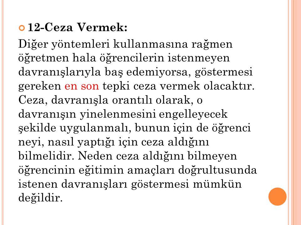 12-Ceza Vermek: