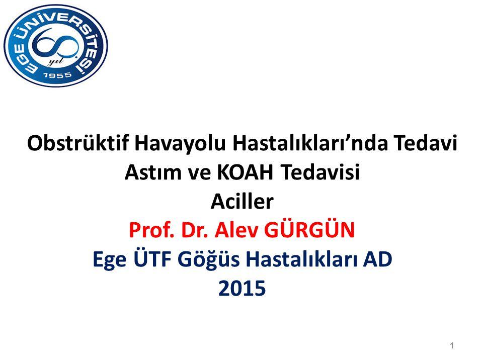 Aciller Prof. Dr. Alev GÜRGÜN Ege ÜTF Göğüs Hastalıkları AD 2015