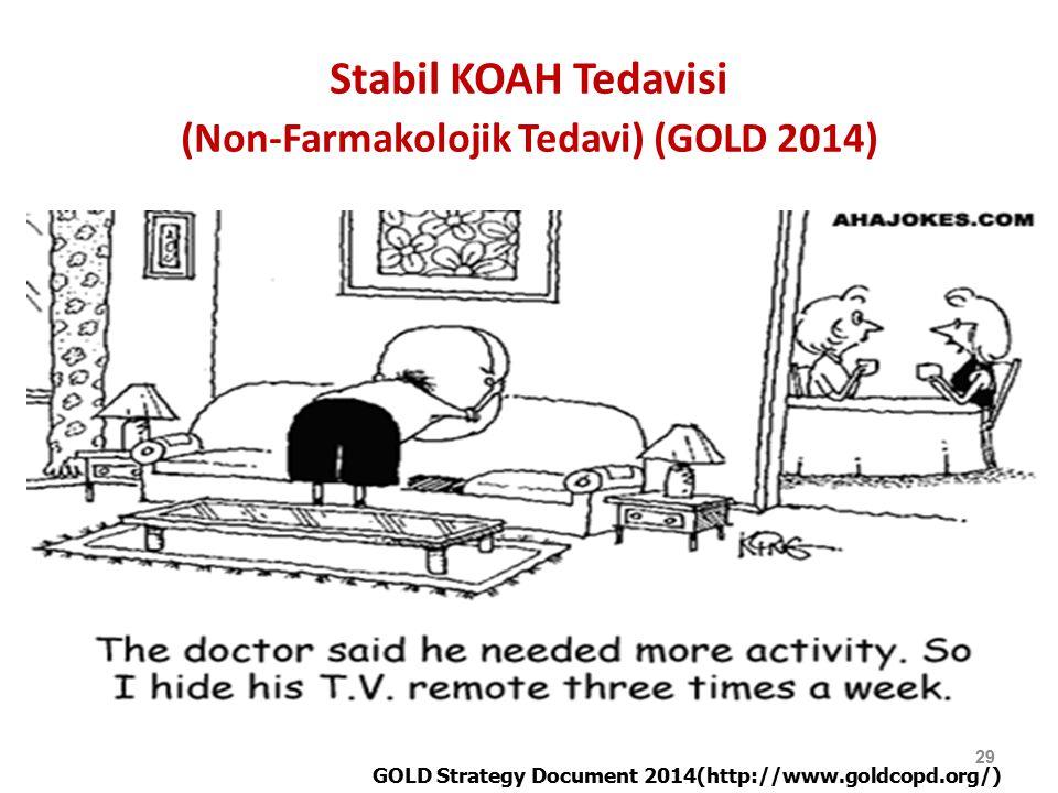 Stabil KOAH Tedavisi (Non-Farmakolojik Tedavi) (GOLD 2014)