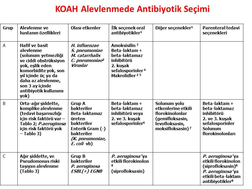 KOAH Alevlenmede Antibiyotik Seçimi