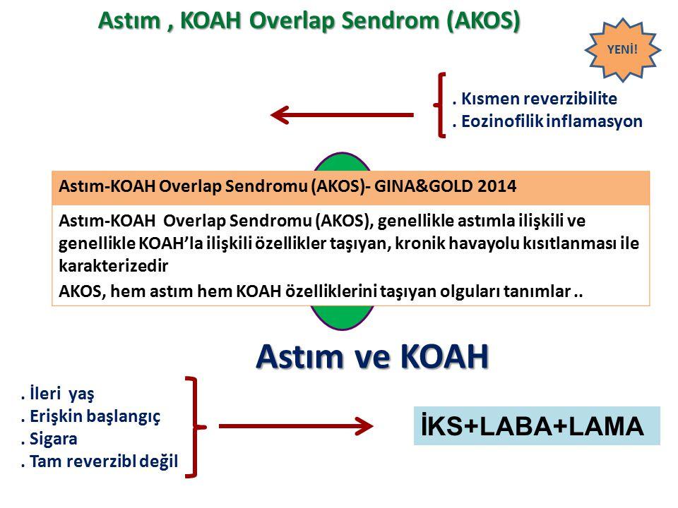 Astım ve KOAH Astım , KOAH Overlap Sendrom (AKOS) Astım KOAH