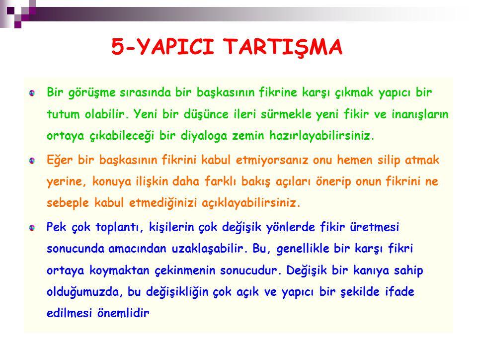 5-YAPICI TARTIŞMA