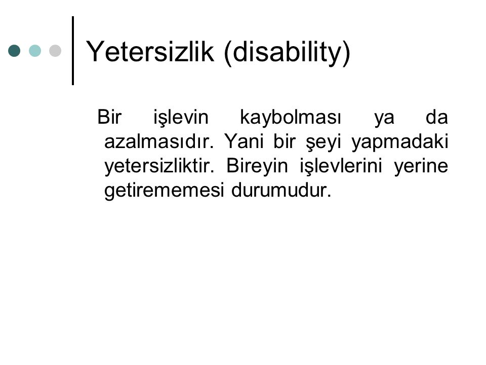 Yetersizlik (disability)