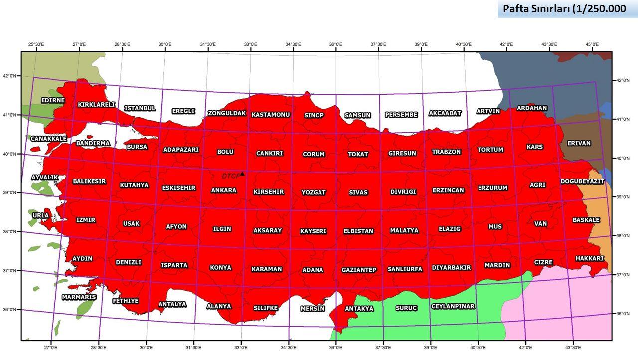 Pafta Sınırları (1/250.000