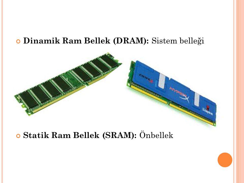 Dinamik Ram Bellek (DRAM): Sistem belleği