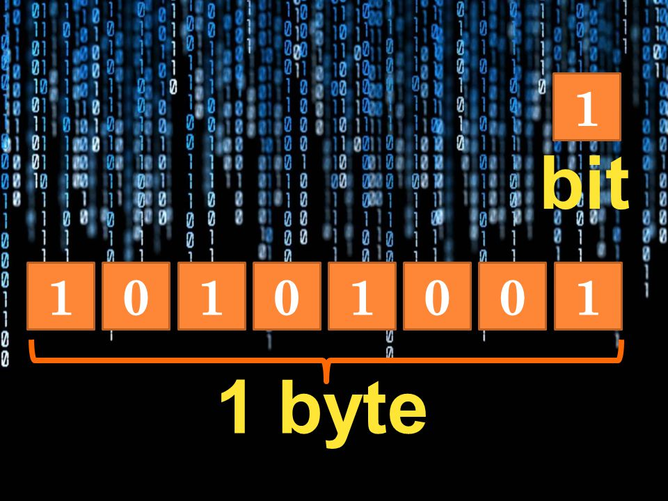 1 bit 1 1 1 1 1 byte