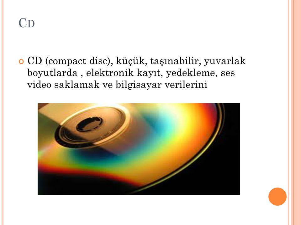 Cd CD (compact disc), küçük, taşınabilir, yuvarlak boyutlarda , elektronik kayıt, yedekleme, ses video saklamak ve bilgisayar verilerini.