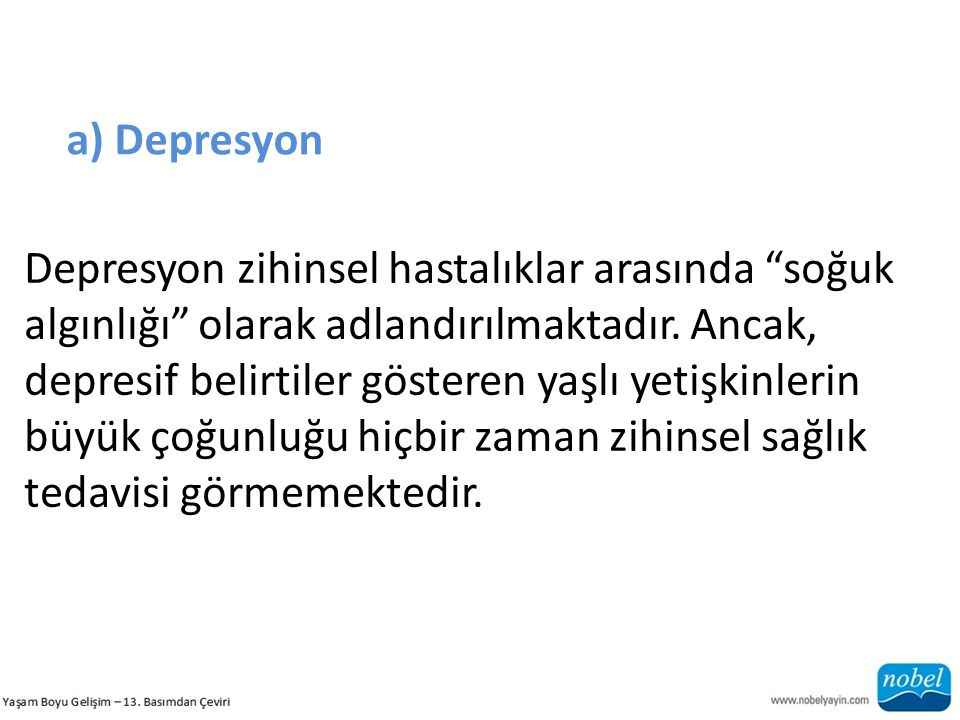 a) Depresyon