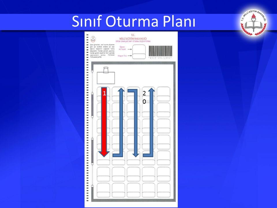 Sınıf Oturma Planı 1 20