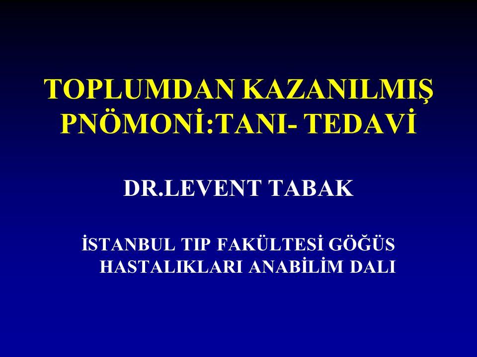 TOPLUMDAN KAZANILMIŞ PNÖMONİ:TANI- TEDAVİ
