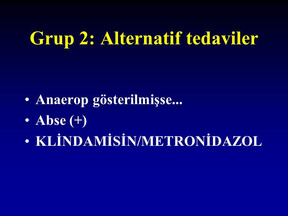Grup 2: Alternatif tedaviler