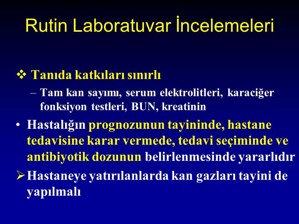 Rutin Laboratuvar İncelemeleri