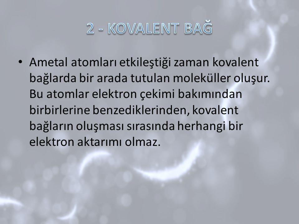 2 - KOVALENT BAĞ
