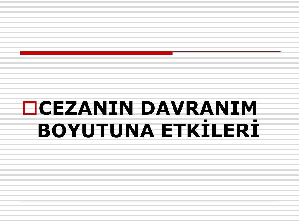 CEZANIN DAVRANIM BOYUTUNA ETKİLERİ