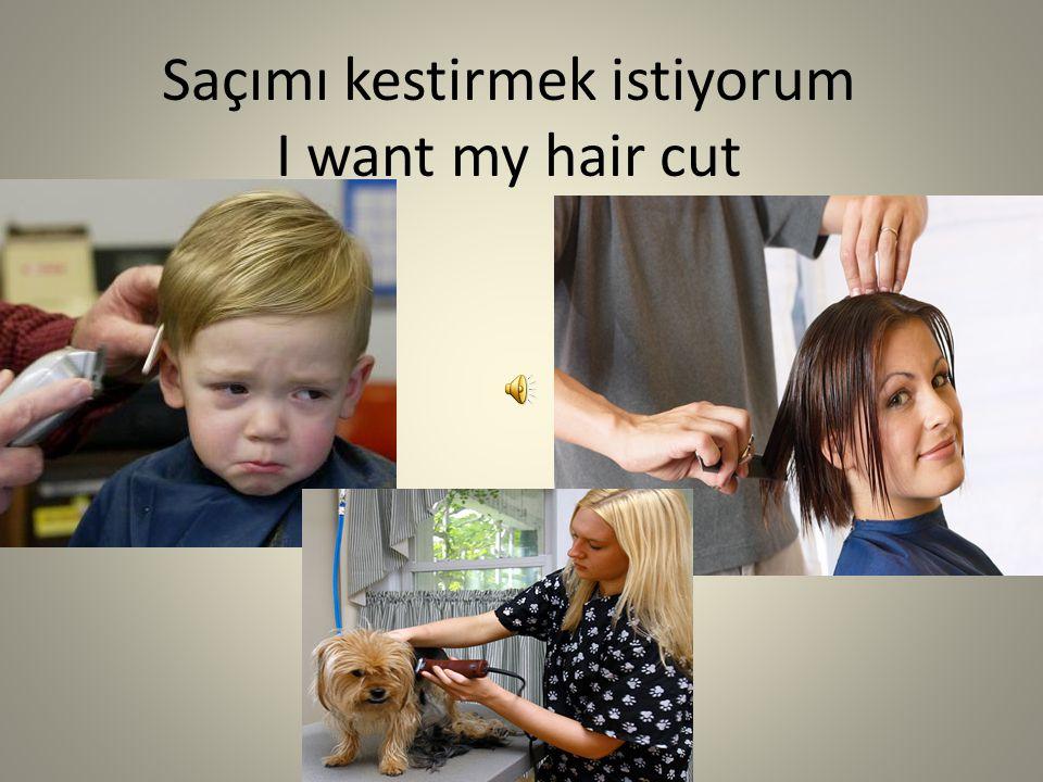 Saçımı kestirmek istiyorum I want my hair cut