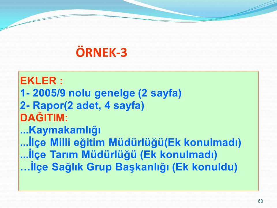 ÖRNEK-3 EKLER : 1- 2005/9 nolu genelge (2 sayfa)