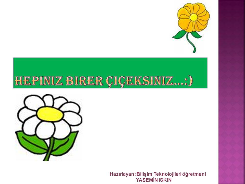 Hepiniz birer çiçeksiniz…:)