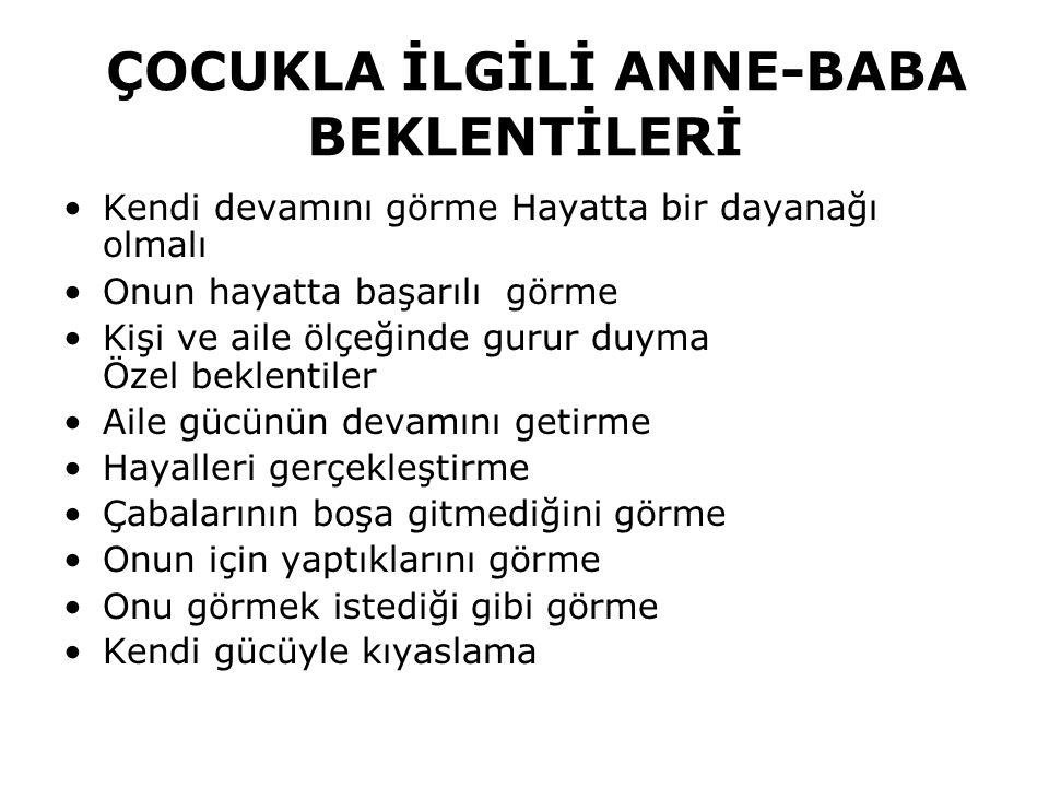 ÇOCUKLA İLGİLİ ANNE-BABA BEKLENTİLERİ