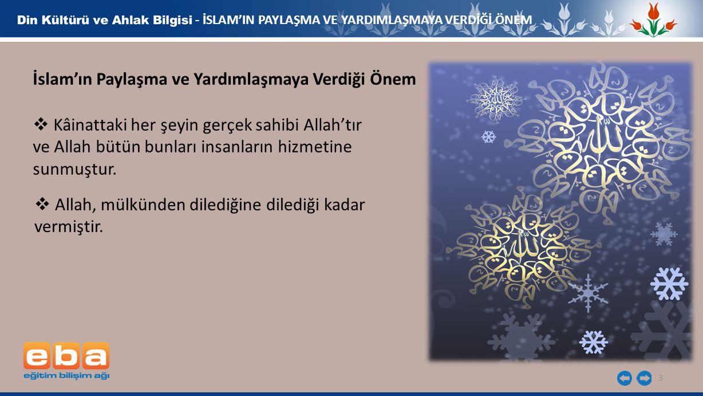 İslam'ın Paylaşma ve Yardımlaşmaya Verdiği Önem