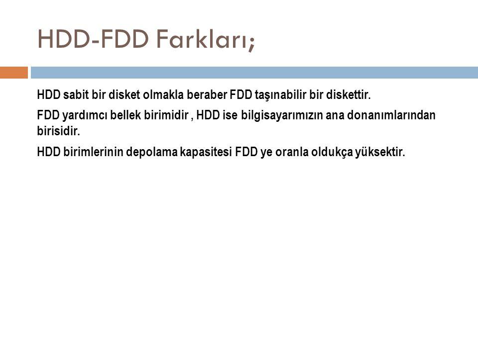 HDD-FDD Farkları;