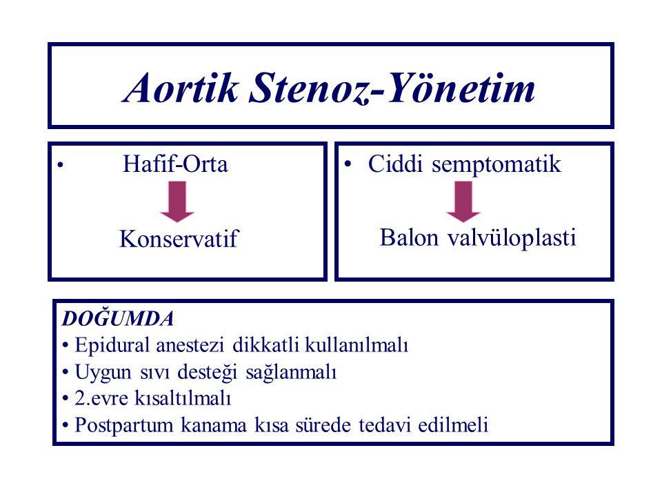 Aortik Stenoz-Yönetim