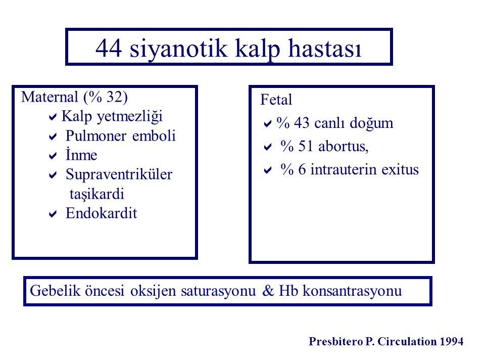 44 siyanotik kalp hastası
