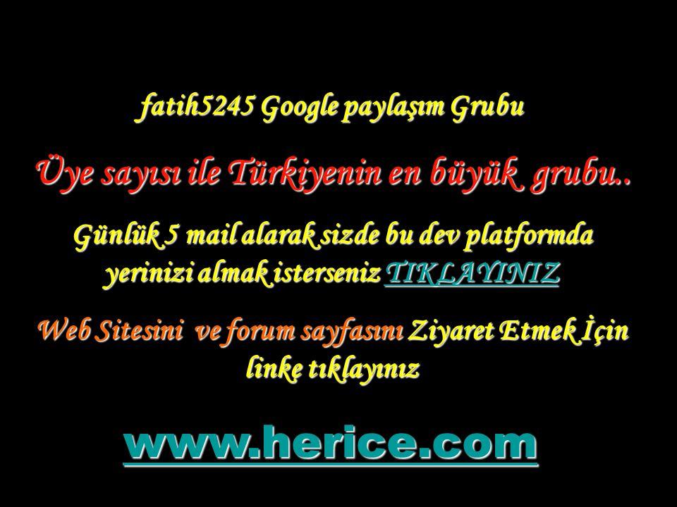 www.herice.com Üye sayısı ile Türkiyenin en büyük grubu..