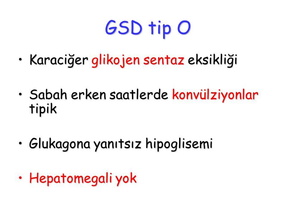 GSD tip O Karaciğer glikojen sentaz eksikliği