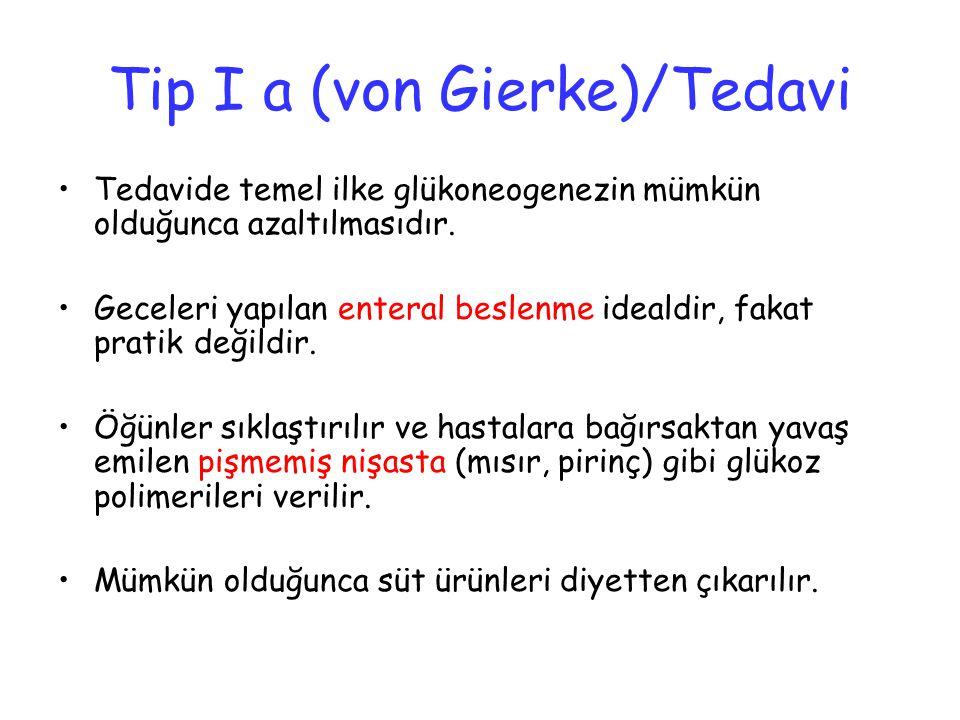 Tip I a (von Gierke)/Tedavi