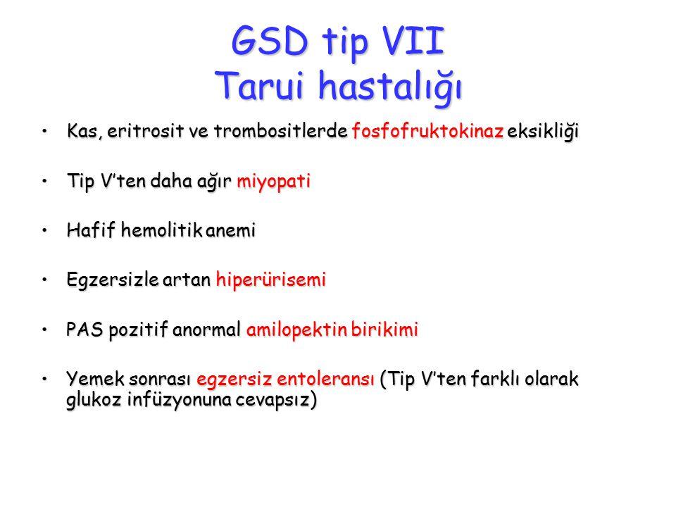 GSD tip VII Tarui hastalığı