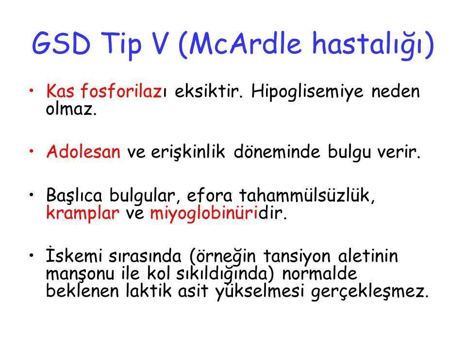 GSD Tip V (McArdle hastalığı)