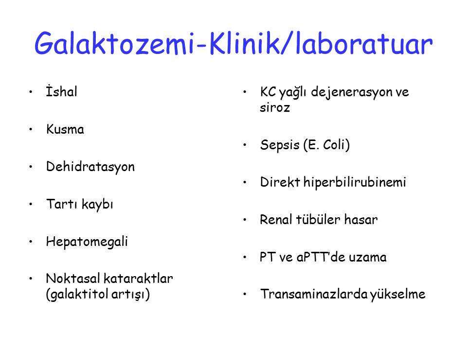 Galaktozemi-Klinik/laboratuar