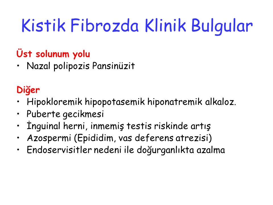 Kistik Fibrozda Klinik Bulgular