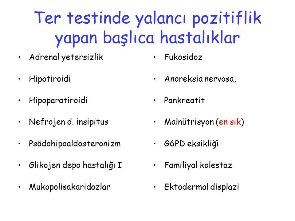 Ter testinde yalancı pozitiflik yapan başlıca hastalıklar