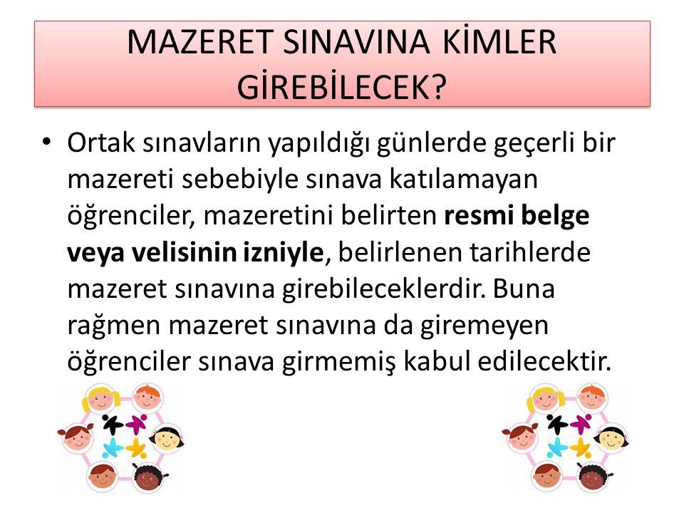 MAZERET SINAVINA KİMLER GİREBİLECEK