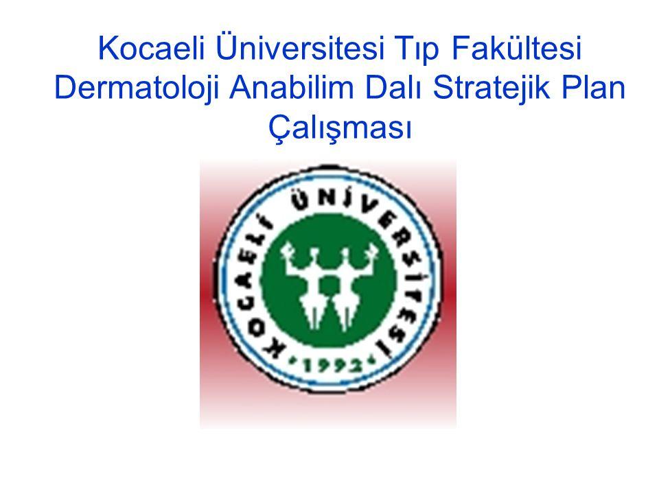 Kocaeli Üniversitesi Tıp Fakültesi Dermatoloji Anabilim Dalı Stratejik Plan Çalışması