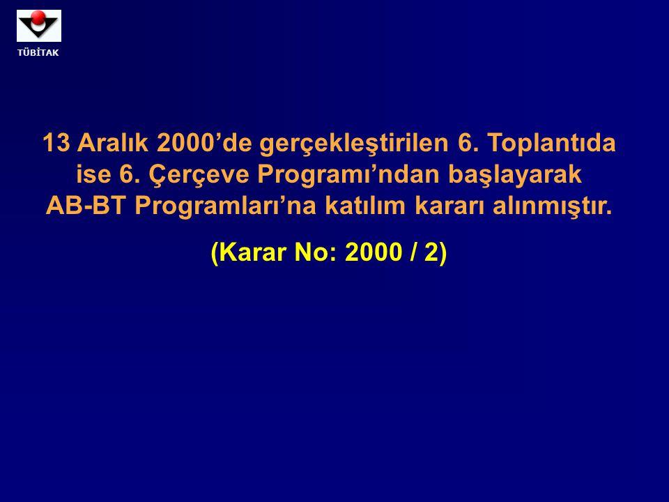 13 Aralık 2000'de gerçekleştirilen 6. Toplantıda ise 6