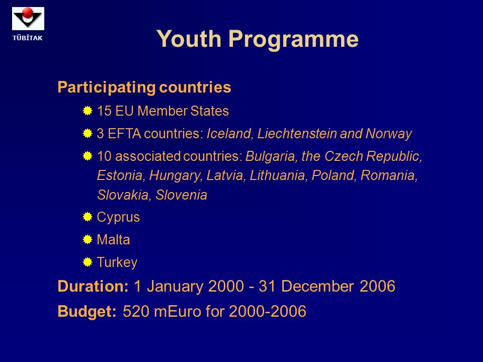 Youth Programme Participating countries