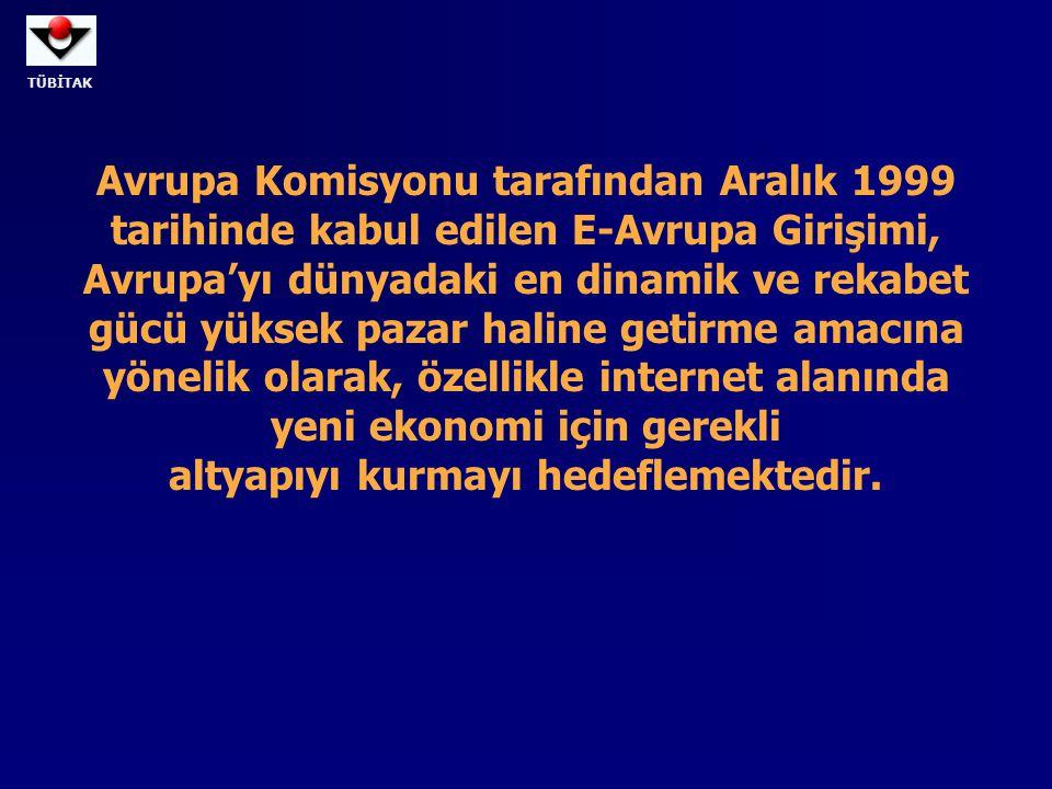 Avrupa Komisyonu tarafından Aralık 1999 tarihinde kabul edilen E-Avrupa Girişimi,