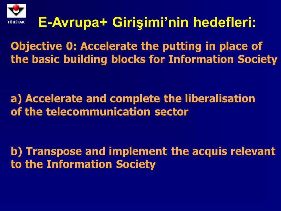 E-Avrupa+ Girişimi'nin hedefleri: