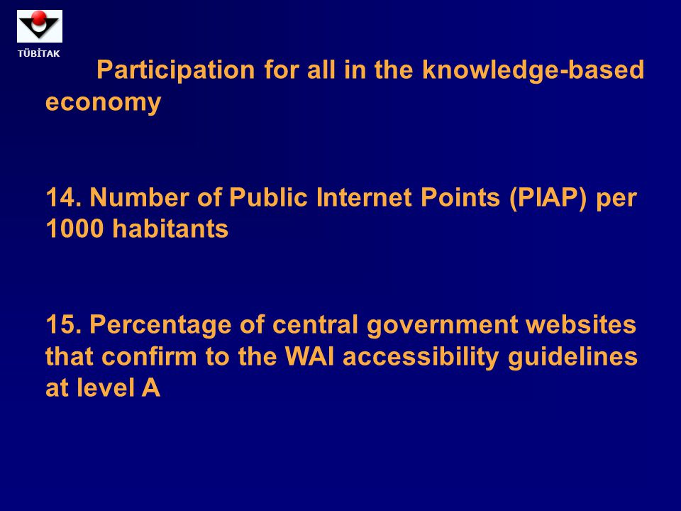 Participation for all in the knowledge-based economy