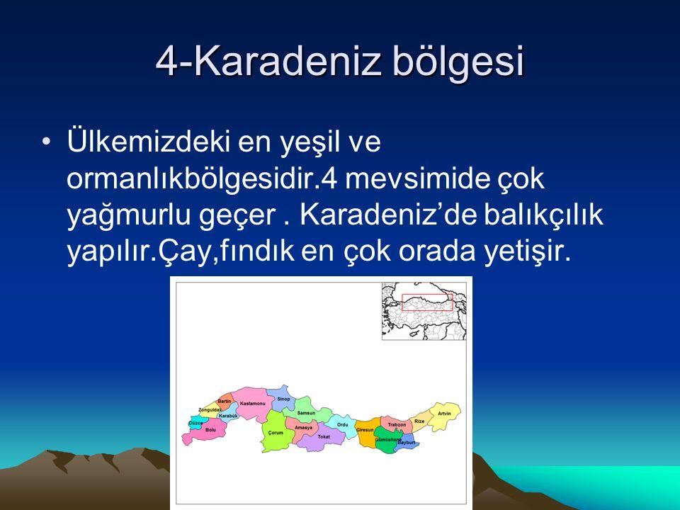 4-Karadeniz bölgesi