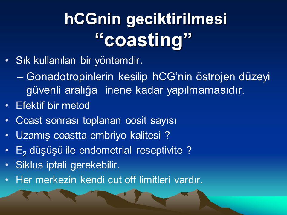 hCGnin geciktirilmesi coasting