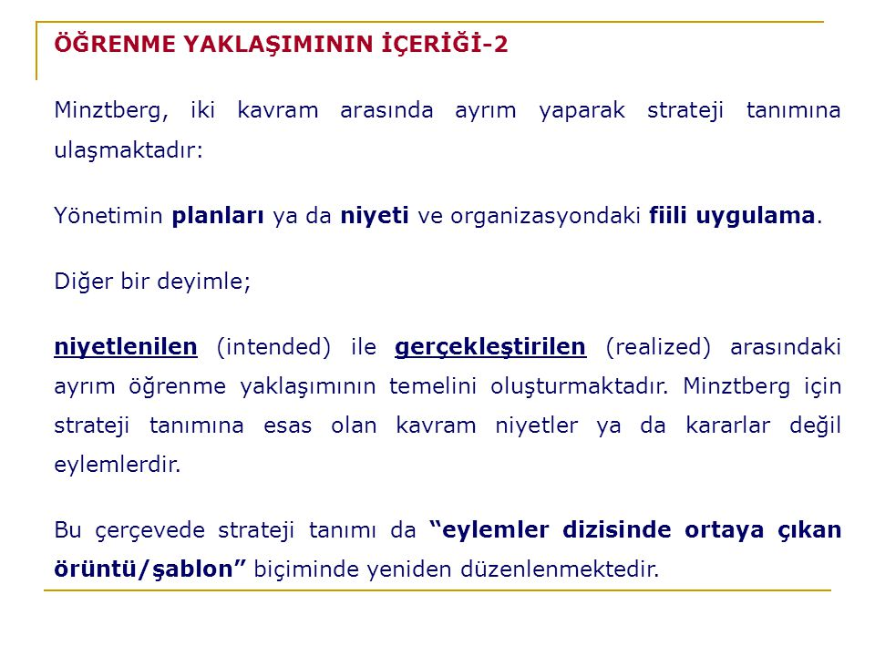 ÖĞRENME YAKLAŞIMININ İÇERİĞİ-2