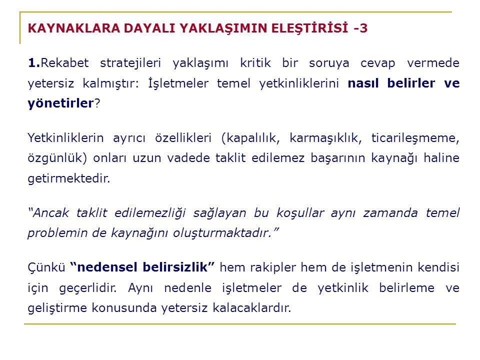 KAYNAKLARA DAYALI YAKLAŞIMIN ELEŞTİRİSİ -3