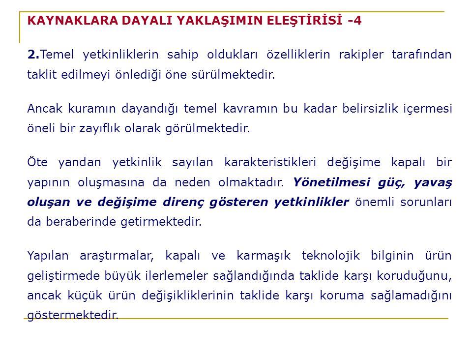 KAYNAKLARA DAYALI YAKLAŞIMIN ELEŞTİRİSİ -4