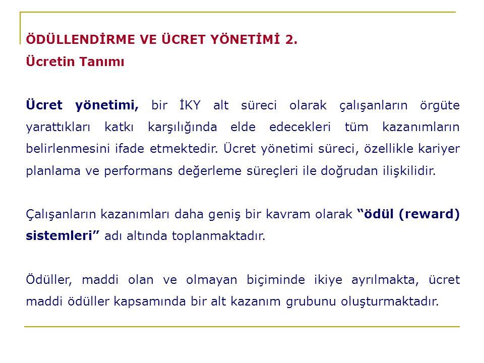 ÖDÜLLENDİRME VE ÜCRET YÖNETİMİ 2.