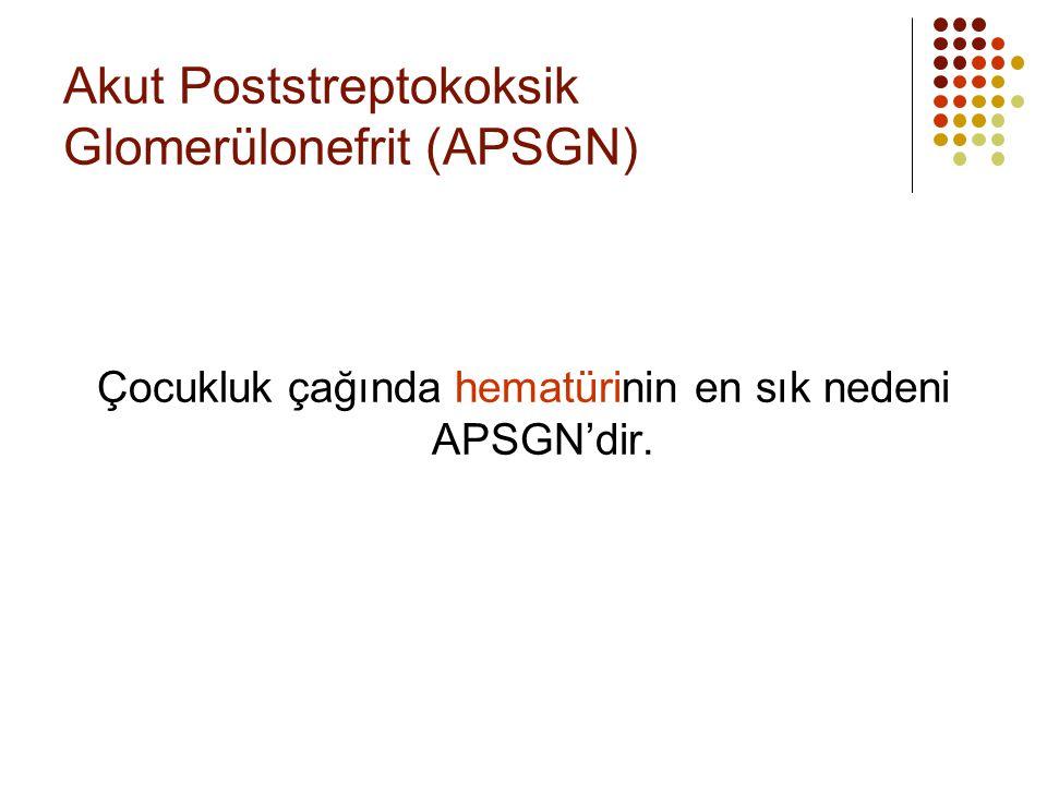 Akut Poststreptokoksik Glomerülonefrit (APSGN)