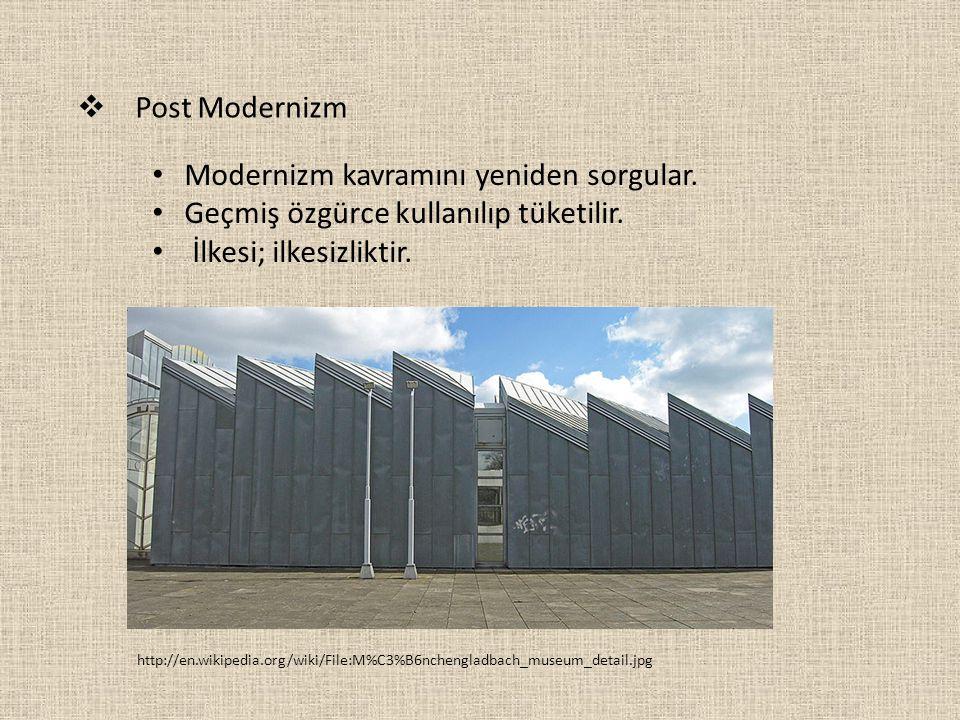 Modernizm kavramını yeniden sorgular.