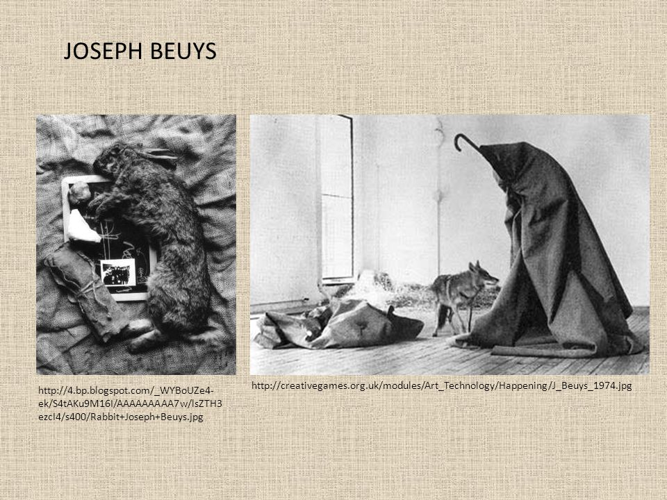 JOSEPH BEUYS http://creativegames.org.uk/modules/Art_Technology/Happening/J_Beuys_1974.jpg.